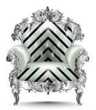 Barock lyxig fåtölj Realistiska designer 3D för vektor Royaltyfria Bilder