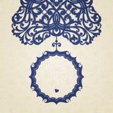 Barock ram för vektor i viktoriansk stil. Royaltyfri Fotografi