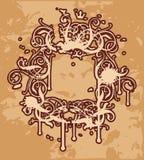 barock ram ii vektor illustrationer