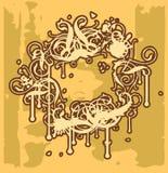 barock ram mig vektor illustrationer