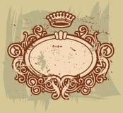 barock ram vii royaltyfri illustrationer