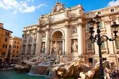 barock rome för springbrunnitaly mästerverk trevi Royaltyfria Foton