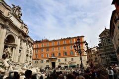 barock rome för springbrunnitaly mästerverk trevi Royaltyfri Fotografi