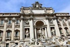 barock rome för springbrunnitaly mästerverk trevi Arkivfoton