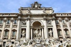barock rome för springbrunnitaly mästerverk trevi Royaltyfria Bilder