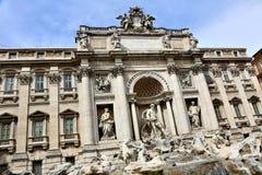 barock rome för springbrunnitaly mästerverk trevi Arkivfoto