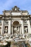 barock rome för springbrunnitaly mästerverk trevi Royaltyfri Foto