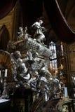 Barock silvergravvalv av St John av Nepomuk Arkivbild