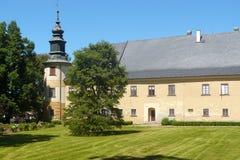 Barock slott Bludov Arkivfoto