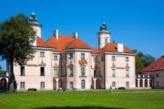Barock slott i Otwock Wielki Arkivbilder