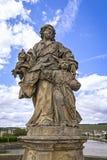 Barock staty av helgonet av Josephus Arkivbilder
