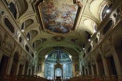 Barock takfreskomålning i den Santa Cecilia kyrkan, Rome, Italien royaltyfri foto