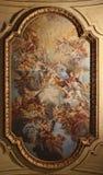 Barock takfreskomålning i den Santa Cecilia kyrkan, Rome, Italien Royaltyfria Foton