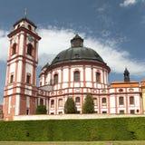 Barock- und Renaissanceschloss Jaromerice nad Rokytnou stockfotos