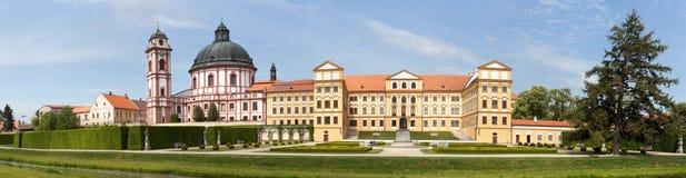 Barock- und Renaissanceschloss Jaromerice nad Rokytnou stockfotografie