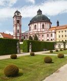 Barock- und Renaissanceschloss Jaromerice nad Rokytnou stockbild