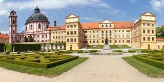 Barock- und Renaissanceschloss Jaromerice nad Rokytnou lizenzfreies stockbild