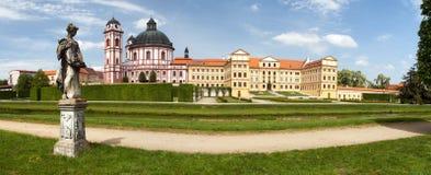 Barock- und Renaissanceschloss Jaromerice nad Rokytnou lizenzfreie stockfotos
