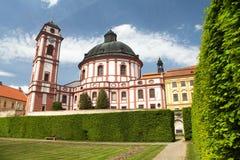 Barock- und Renaissanceschloss Jaromerice nad Rokytnou stockfoto