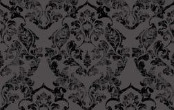 Barock viktoriansk modellvektor för tappning Garnering för blom- prydnad För grungetextur för blad snirkel inristad retro design vektor illustrationer