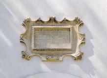 barocka bas board inskriftlättnad royaltyfri bild