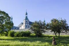 Barocka biskopar av den Krakow slotten i Kielce, Polen Arkivfoto