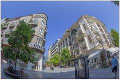 Barocka byggnader i Skopje, Makedonien arkivbilder