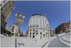 Barocka byggnader i Skopje, Makedonien fotografering för bildbyråer