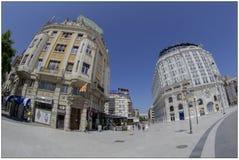 Barocka byggnader i Skopje, Makedonien royaltyfri fotografi