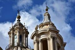Barocka tornspiror och höjdpunkter Royaltyfria Foton