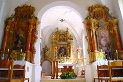 Barocke Altare, Jeruzalem, Slowenien Lizenzfreies Stockfoto