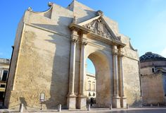 Barocke Art in Lecce, Italien stockfotografie