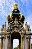 Barocke Art Stadtmauer mit blauem Himmel Lizenzfreie Stockbilder