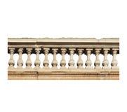 Barocke Balustrade lokalisiert über Weiß Stockbild