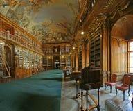 Barocke Bibliothek Stockbilder