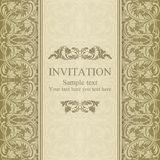 Barocke Einladung, beige Lizenzfreie Stockfotografie