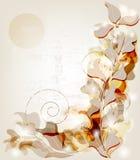 Barocke Einladungskarte der Weinlese Stockbild