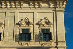 Barocke Fassade Auberge de Castille, Malat Lizenzfreie Stockfotos