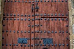 Barocke hölzerne Tür Lizenzfreie Stockfotos