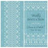 Barocke Hochzeitseinladung, blau Stockbilder