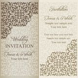 Barocke Hochzeitseinladung, Patina Lizenzfreies Stockfoto