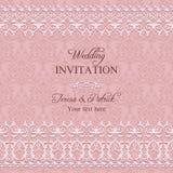 Barocke Hochzeitseinladung, rosa Stockfotografie