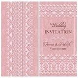 Barocke Hochzeitseinladung, rosa Stockfotos
