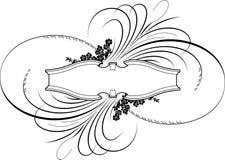 Barocke Kalligraphie-Fahne   Stockfoto