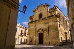 Barocke Kirche in der italienischen Stadt von Lecce Lizenzfreies Stockbild