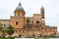 Barocke Kirche der Kathedrale, Palermo, Sizilien, Italien Lizenzfreies Stockfoto