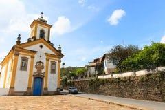 Barocke Kirche in Ouro Preto, Brasilien Stockfotografie