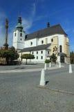 Barocke Kirche in Svitavy Stockbild