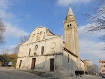 Barocke Kirche von St Michael, Zminj, zentrales Istria, Kroatien Stockfotos