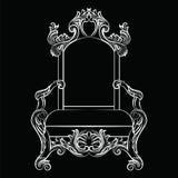 Barocke Luxusartmöbel Lizenzfreie Stockbilder